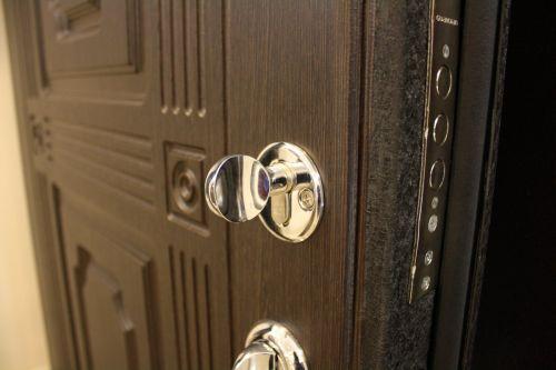 Металлическая дверь с декоративной панелью