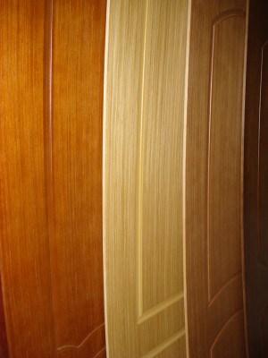 Шпонированные накладки на двери