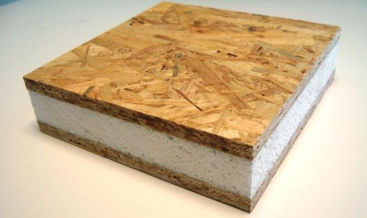 Стеновая панель из плит ОСП с полиуретановой прослойкой