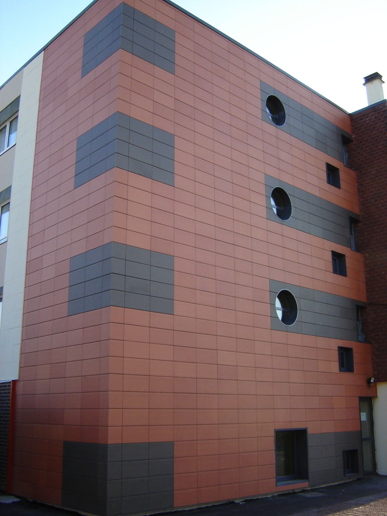 Ceramic tile facade