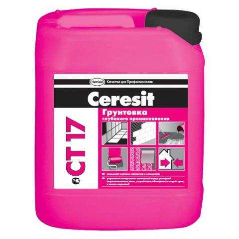 Расход грунтовки Церезит СТ 17 зависит от вида обрабатываемой поверхности