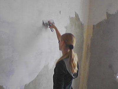 Шпаклевание бетонных стен