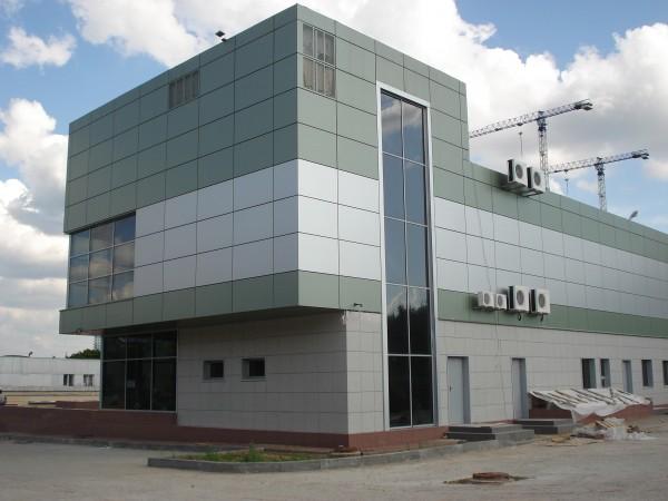 Варианты облицовки здания: композитные панели