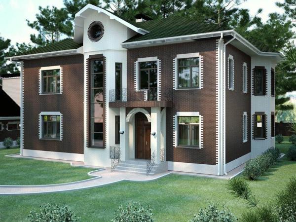 Фасад жилого дома: облицовка клинкерными термопанелями