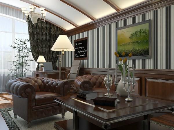 Классическая гостиная с деревянными панелями