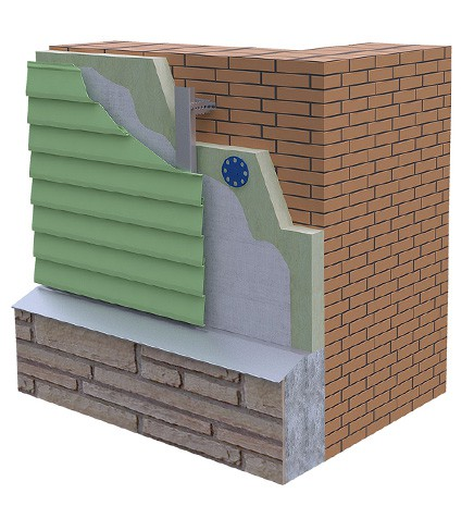 Облицовка стен домов сайдингом по металлокаркасу