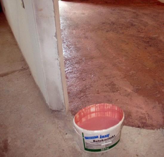 При оштукатуривании печи нужен ли бетоноконтакт наливной пол boden inter gross
