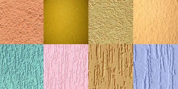 Декоративная шпаклевка – виды готовой поверхности
