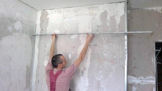 Проверка рельефа стены
