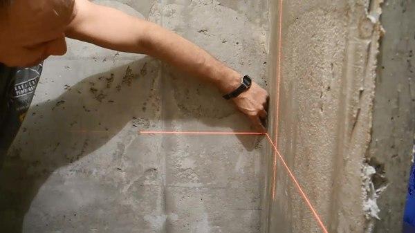 Разметка поверхности под плиточную облицовку