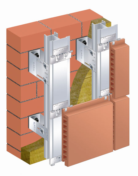 Схема обустройства утеплённого вентилируемого фасада