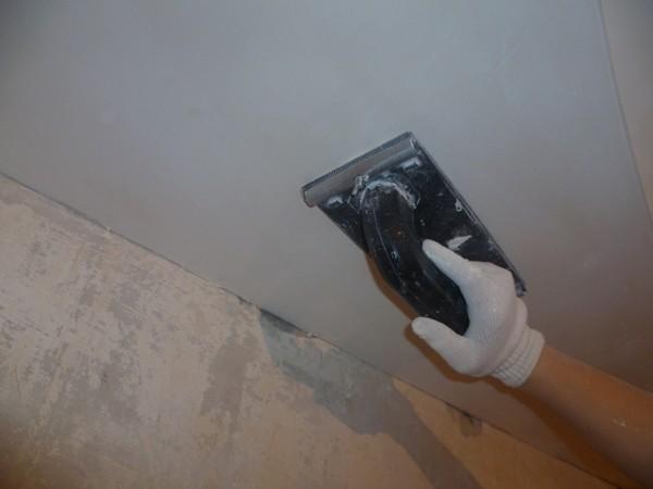 Шпаклевка гипсокартонного потолка своими руками