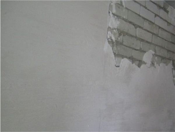 Шпаклевка кирпичной стены