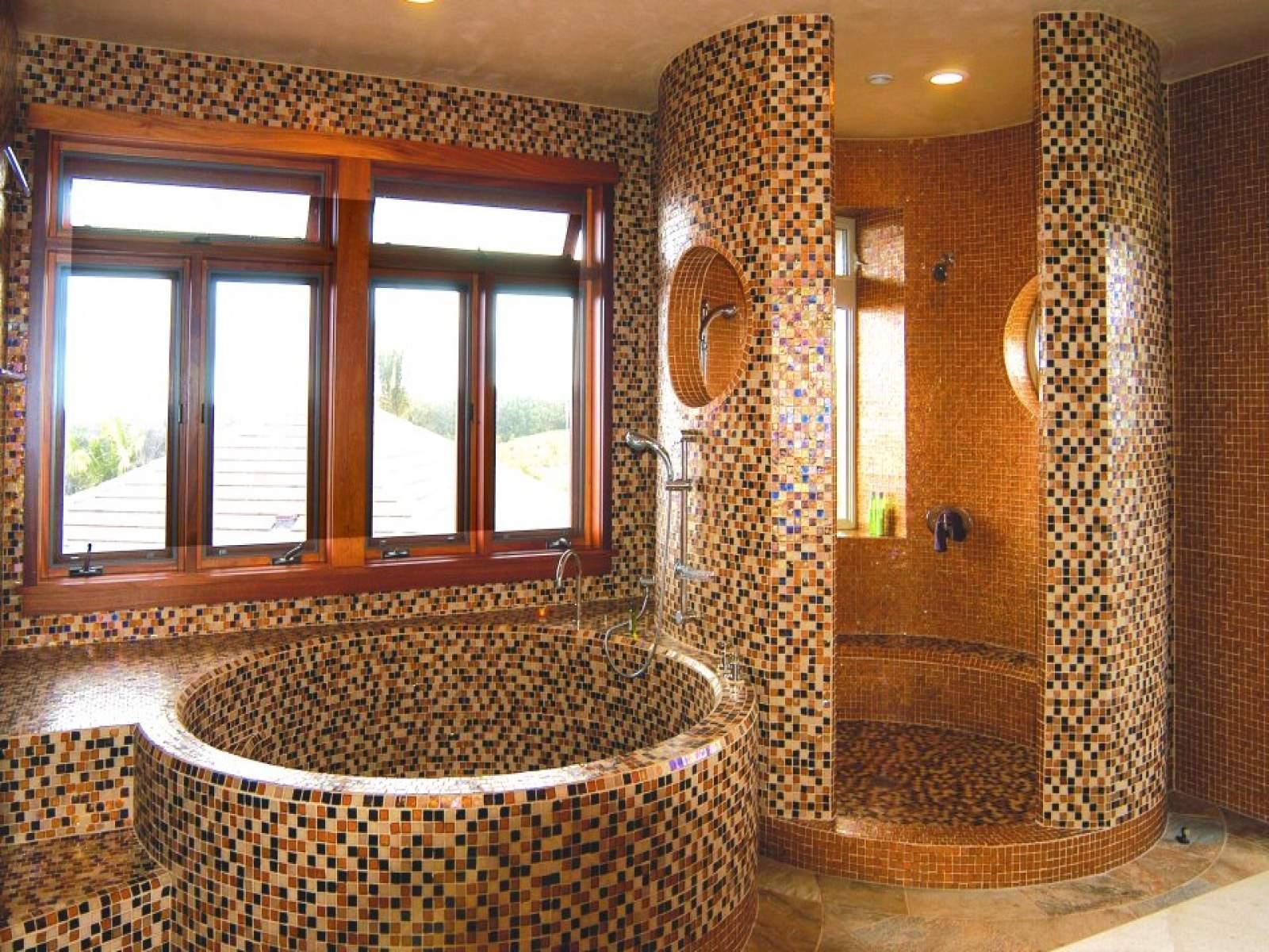 Мозаика своими руками в ванной комнате фото в 17
