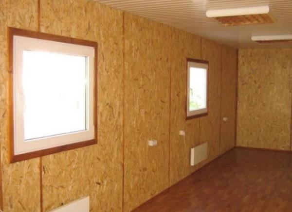 Если вас устраивает внешний вид таких стен, шпаклевка по ОСБ не нужна