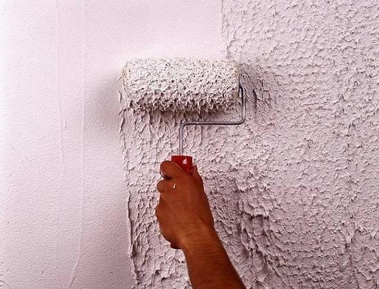 Нанесение шпатлевки на потолок валиком разноцветная мастика для фигурок