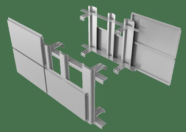 Фасадные панели, установленные на каркас