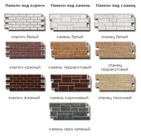 Панели повторяющие камень
