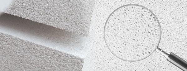 На фото хорошо видна пористая структура ячеистого бетона