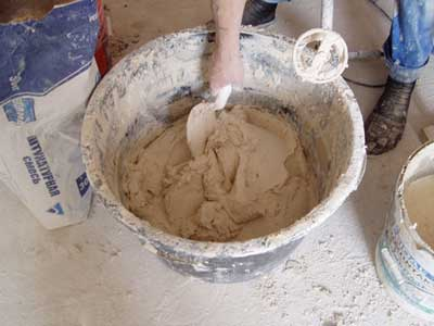 Приготовление глиняного раствора