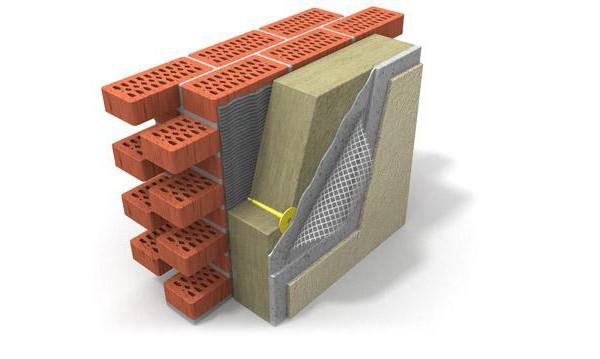 Схема оштукатуривания утеплённой стены