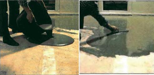 Выравнивание цементной шпаклевкой