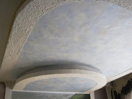 Декорирование гипсокартонной потолочной конструкции