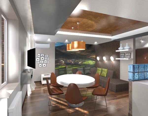 Декоративная штукатурка для потолка: стилизация под мрамор