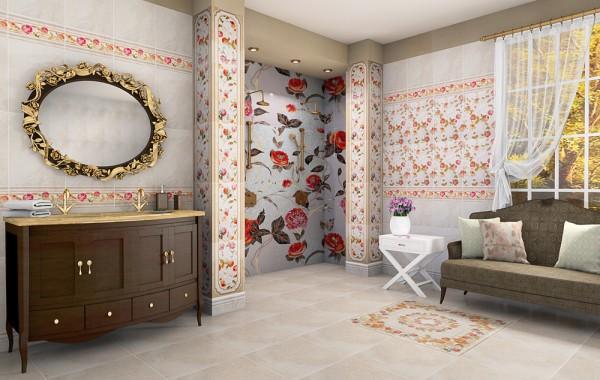 Дизайн помещения с керамической облицовкой
