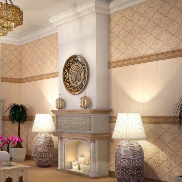 Облицовка стен керамическими глазурованными плитками: интересный дизайн жилого помещения
