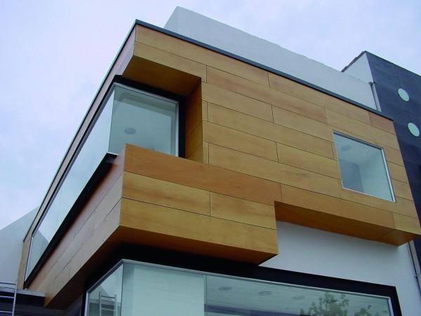Облицовка фасадов композитом: древесно-полимерные панели