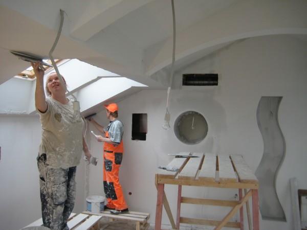 Оштукатуривание стен гипсовым раствором