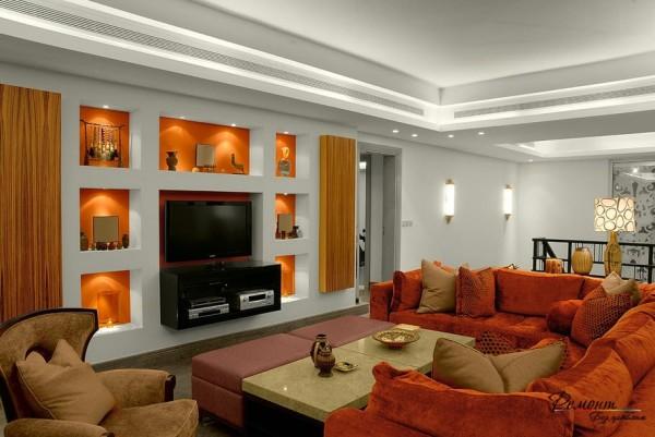 Работа с гипсокартоном: отделка стен и потолка