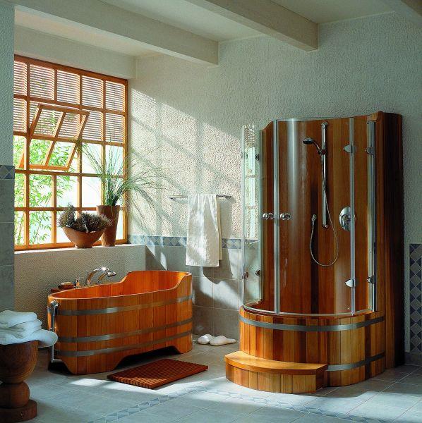 Декоративная штукатурка и плитка в отделке ванной