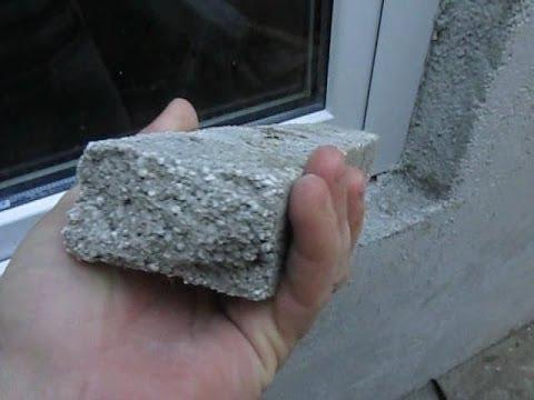 Образец готового покрытия – на сломе видны гранулы наполнителя