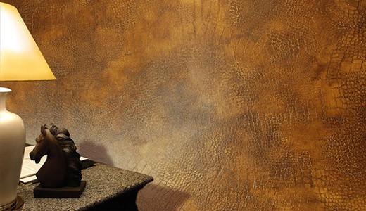 Штукатурка под кожу в интерьере