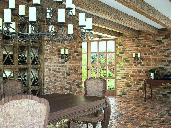 Дизайн загородного дома с клинкерной облицовкой