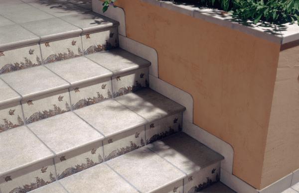 Клинкерные ступени с декором