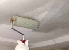 Наносим грунт на потолок
