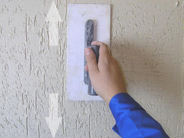 Фото нанесения короеда на поверхность