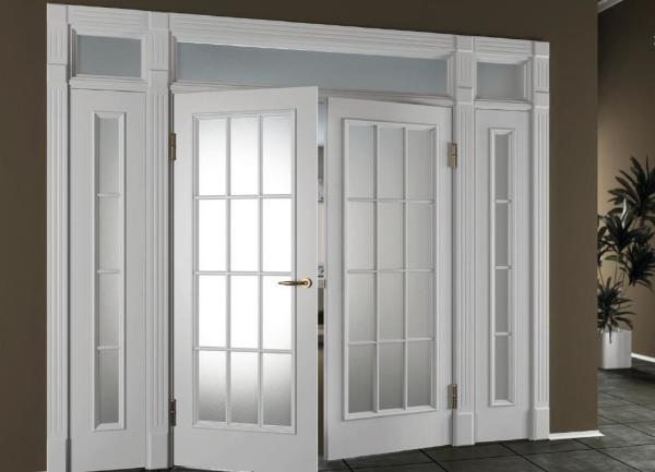 Как покрасить МДФ двери с остеклением