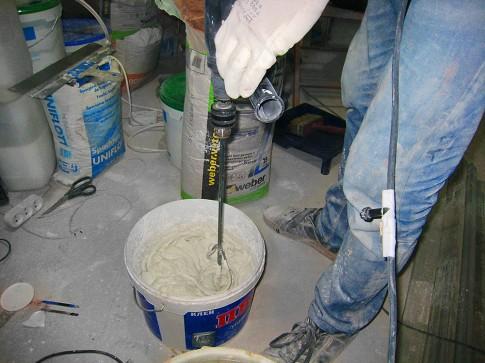 Приготовление сухой шпатлёвки