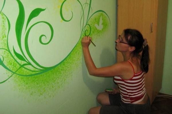 Роспись водоэмульсионной краской