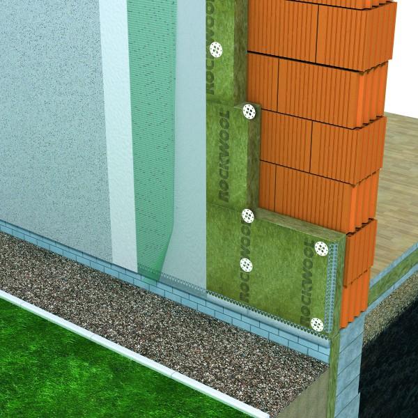 Схема «пирога» утепляемого штукатурного фасада
