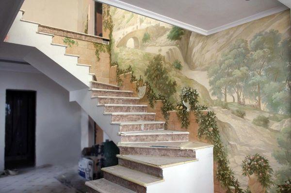 Современные фрески в дизайне интерьера