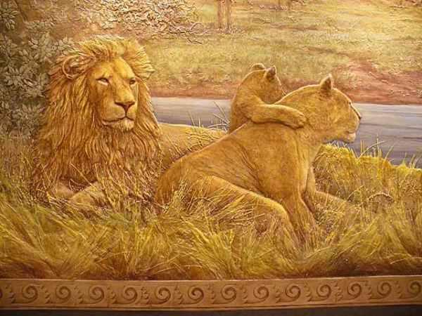 Рельефный рисунок из венецианской штукатурки
