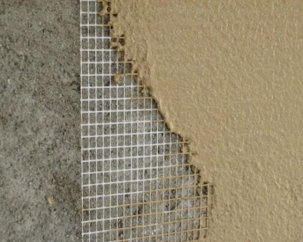 Акриловая штукатурка поверх армировочной сетки