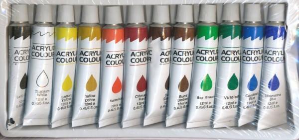 Акриловые краски для витража