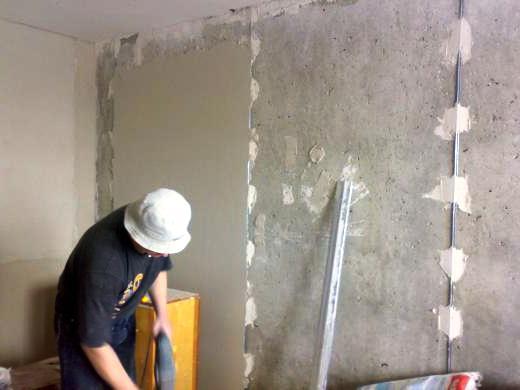 Как сделать песчано цементную штукатурку по маякам
