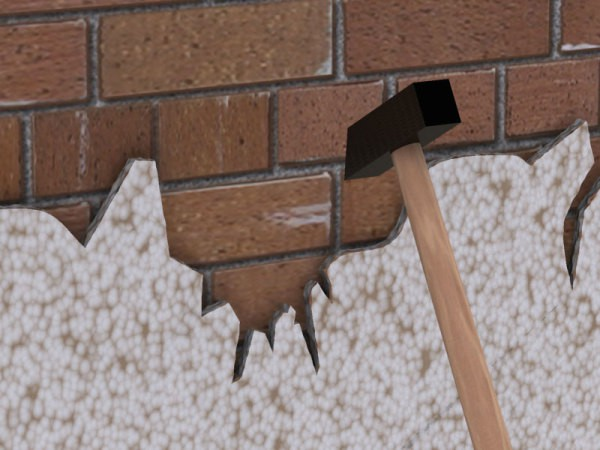 Как удалить старую штукатурку со стен